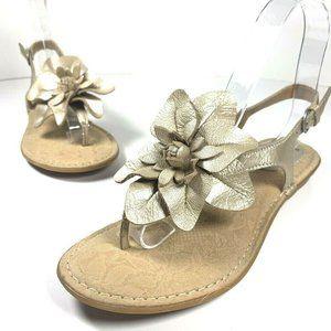 BOC Born Concept Womens Flower T-Strap Sandals 7